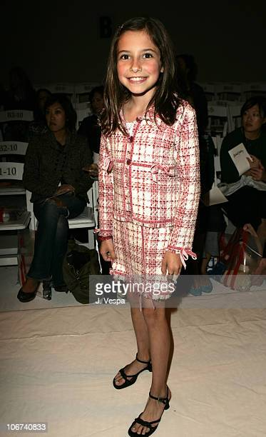 Lucy RogersCiaffa during MercedesBenz Spring 2005 Fashion Week at Smashbox Studios Rachel Pally Front Row at Smash Box Studios in Culver City...