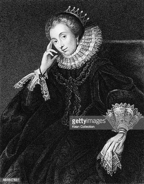 Lucy Russell née Harington Countess of Bedford an Elizabethan patron of the arts Engraved by W Freeman after an original by Honthorst