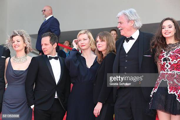 Lucy Russell Trystan Puetter Sandra Hueller Maren Ade Peter Simonischek and Ingrid Bisu attend the Toni Erdmann premiere during the 69th annual...