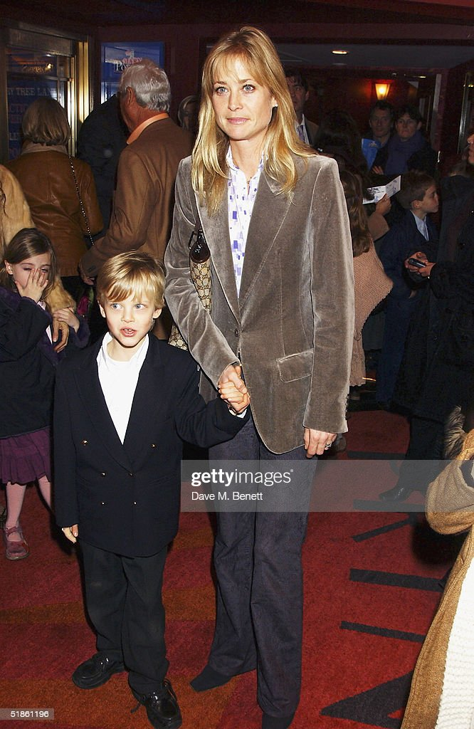 Lucy Sangster and her son attend the 'Mary Poppins' Gala Preview ahead of tomorrow's press night at the Prince Edward Theatre on December 14, 2004 in London.