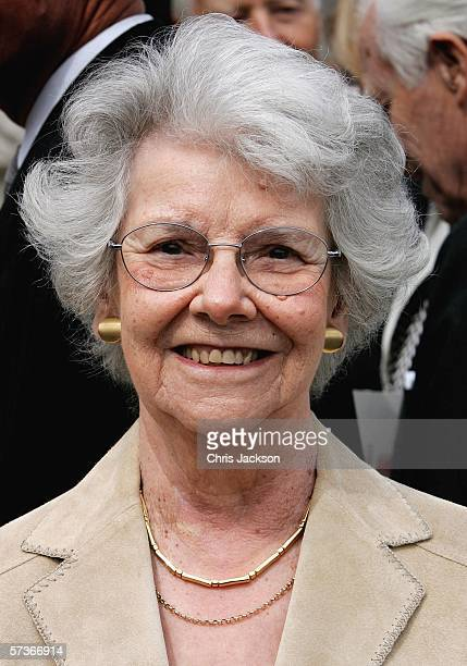 Lucy Sheen is seen before attending the Queen's 80th Birthday Lunch on April 19, 2006 at Buckingham Palace in London, England. TRH Queen Elizabeth II...