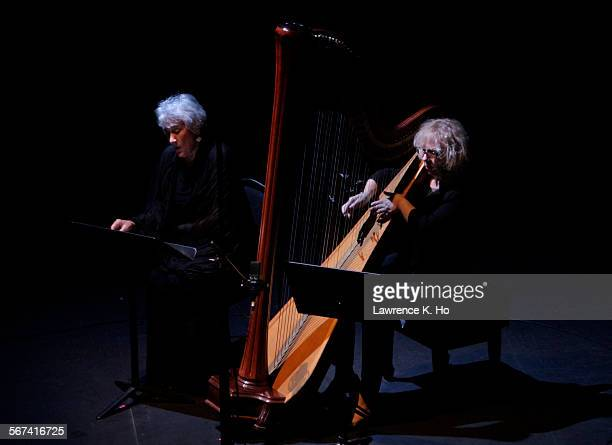 LOS ANGELES CA APR 13 2014 Lucy Shelton and Anne LeBaron performing LeBaron's own composition scene from Psyche Delia in Anne LeBaron Portrait...