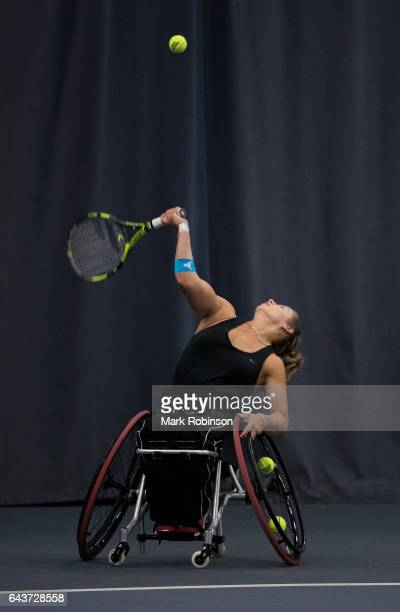 Lucy Shuker from Great Britain during her match against Lauren Jones from Great Britain on February 22 2017 in Bolton England