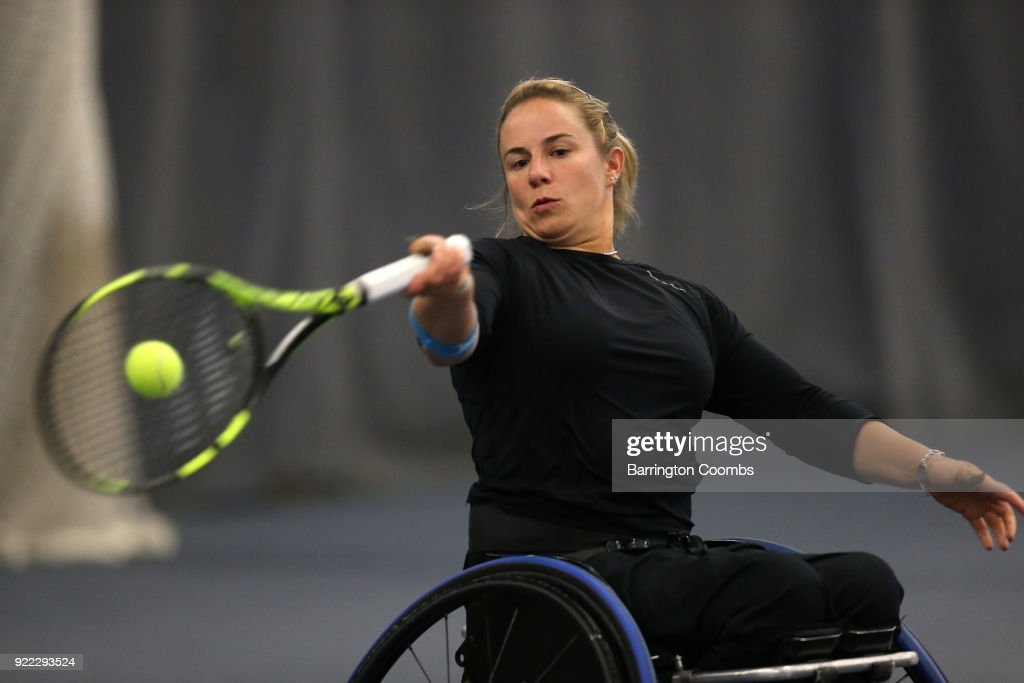 2018 Bolton Indoor Wheelchair Tennis Tournament : Nachrichtenfoto