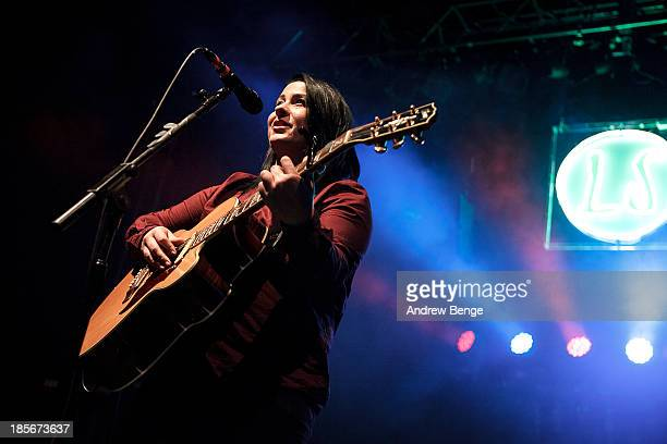 Lucy Spraggan performs on stage at O2 Academy on October 23, 2013 in Leeds, England.