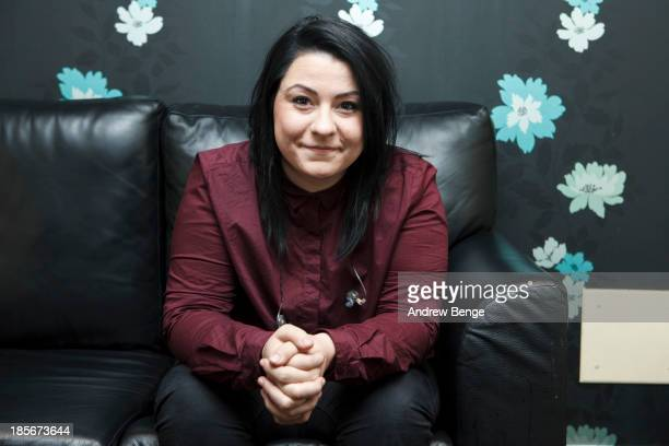 Lucy Spraggan poses backstage at O2 Academy on October 23, 2013 in Leeds, England.