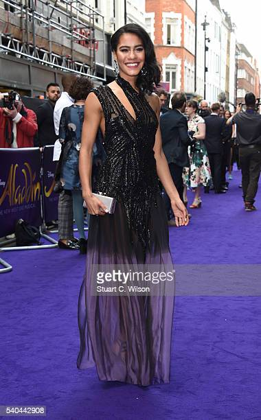Lucy St Louis attends the Red Carpet arrivals for Disney's New Musical Aladdin at Prince Edward Theatre on June 15 2016 in London England