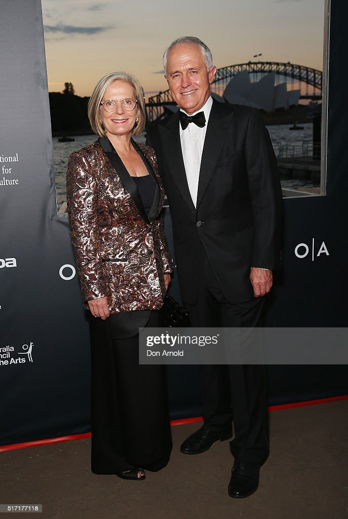 Lucy Turnbull and Malcolm Turnbull arrive ahead of the opening night of Handa Opera's Turandot on March 24, 2016 in Sydney, Australia.