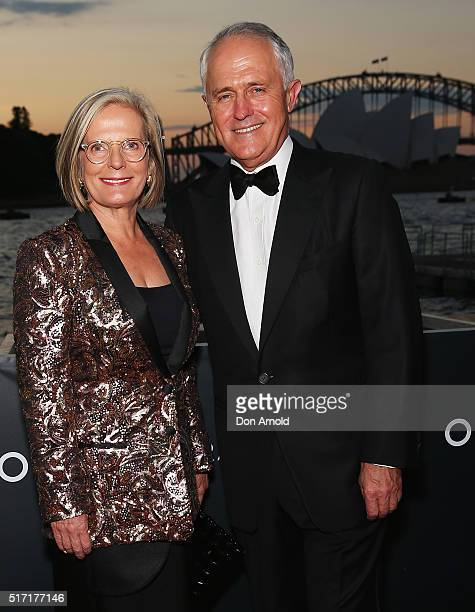 Lucy Turnbull and Malcolm Turnbull arrive ahead of the opening night of Handa Opera's Turandot on March 24 2016 in Sydney Australia