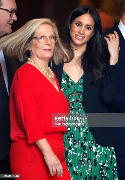 Lucy Turnbull and Meghan Markle attend an Invictus Games Reception at Australia House on April 21 2018 in London England