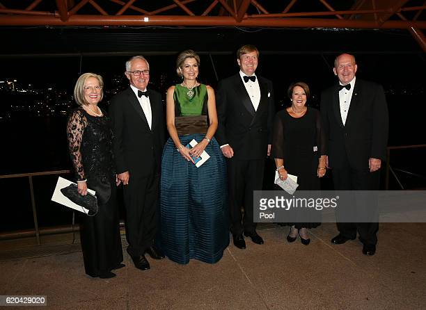 Lucy Turnbull Australian Prime Minister Malcolm Turnbull Queen Maxima of The Netherlands King WillemAlexander of The Netherlands Lady Cosgrove and...