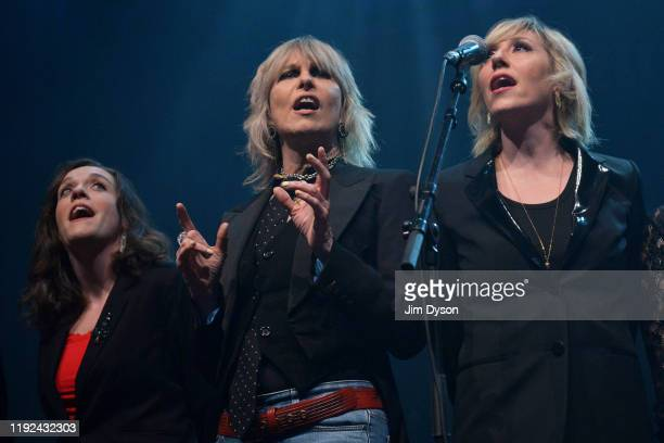 Lucy Wainwright Roche Chrissie Hynde and Martha Wainwright perform during Rufus Martha Wainwright's 'A Not So Silent Night' at The Royal Festival...