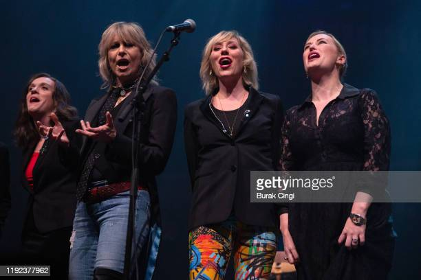 Lucy Wainwright Roche Chrissie Hynde Martha Wainwright and Kami Thompson perform at Rufus and Martha Wainwright's Not So Silent Night event at The...