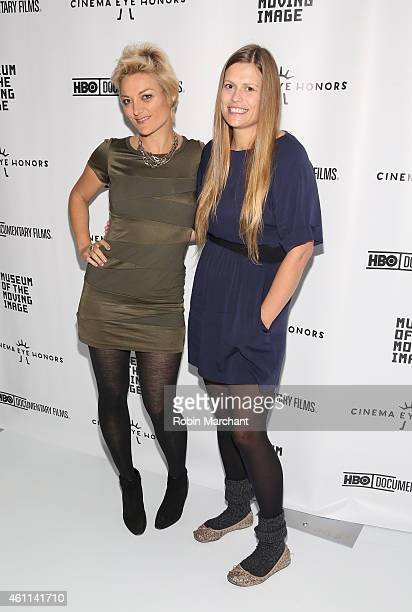 Lucy Walker and Marianna Palka attend Cinema Eye Honors at Museum of Moving Image on January 7 2015 in New York City
