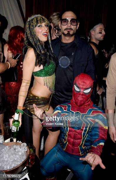 Lucy Walsh and Eric Podwall attend Podwall Entertainment's 10th Annual Halloween Party presented by Maker's Mark on October 31 2019 in West Hollywood...