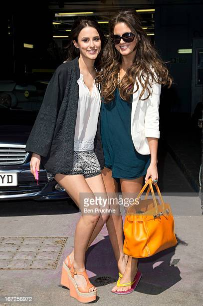 Lucy Watson and Alexandra Felstead AKA Binky sighted departing ITV Studios on April 23 2013 in London England