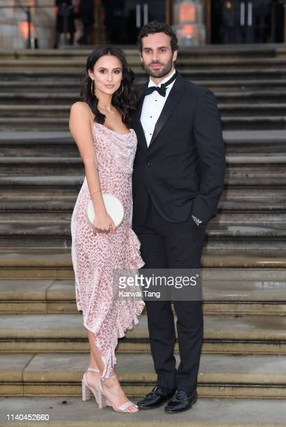 Lucy Watson and James Dunmore attend the Our Planet global premiere at Natural History Museum on April 04 2019 in London England