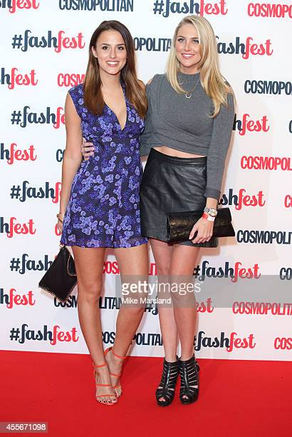 Lucy Watson and Stephanie Pratt attend the Cosmopolitan #FashFest event at Battersea Evolution on September 18 2014 in London England