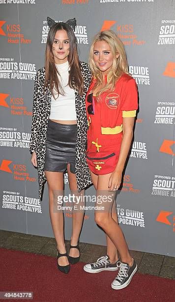 Lucy Watson and Stephanie Pratt attend the KISS FM Haunted House Party at SSE Arena on October 29 2015 in London England