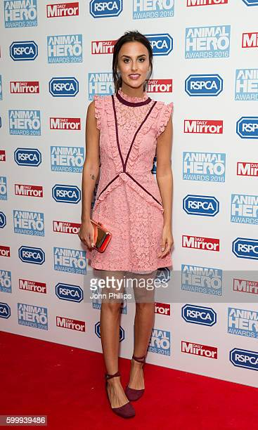 Lucy Watson arrives for Daily Mirror and RSPCA Animal Hero Awards at Grosvenor House on September 7 2016 in London England