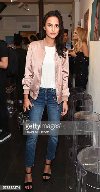 Lucy Watson attends as beauty brand Spectrum Collections launch their AW16 Bomb Shell in Soho on July 21 2016 in London England