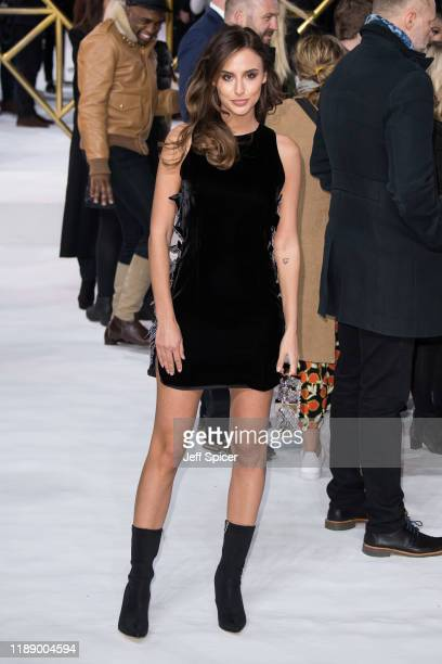 """Lucy Watson attends the """"Charlie's Angels"""" UK Premiere at The Curzon Mayfair on November 20, 2019 in London, England."""