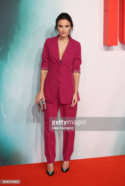 Lucy Watson attends the European premiere of 'Tomb Raider' at Vue West End on March 6 2018 in London England
