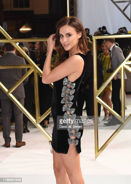 """Lucy Watson attends the UK Premiere of """"Charlie's Angels"""" at The Curzon Mayfair on November 20, 2019 in London, England."""