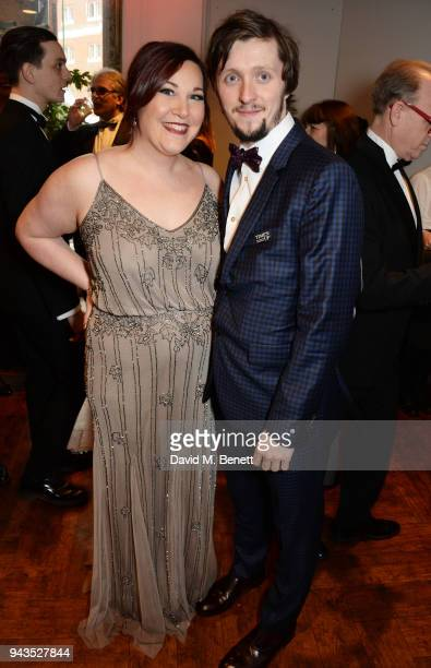 Lucy Wheatley and Alfie Oldman attend The Olivier Awards with Mastercard at Royal Albert Hall on April 8 2018 in London England