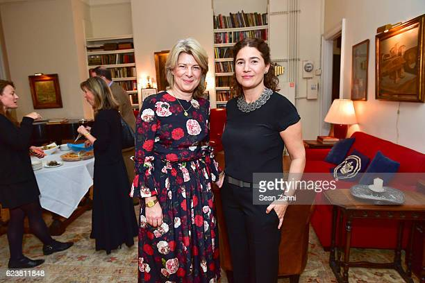 Lucy Whitfield and Valentina Rice attend Ben Pentreath Lecture at the Institute of Classical Architecture Art at General Society Library on November...