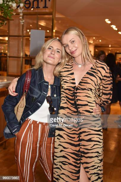 Lucy WIlliams and Alexandra Spencer attend the launch of the Realisation concession at Selfridges on July 2 2018 in London England