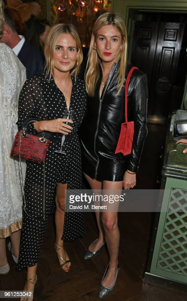 Lucy Williams and Camille Charriere attend the Annabel's x Dior dinner on May 21 2018 in London England