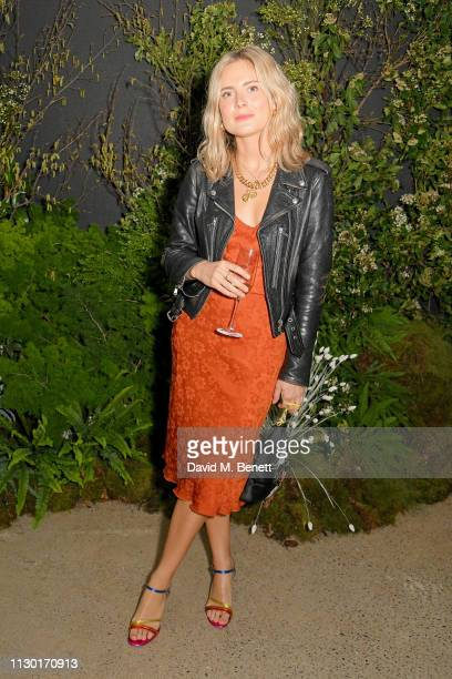 Lucy Williams attends a private dinner to celebrate the launch of the new ALEXACHUNG x Sunglass Hut eyewear collection at Wild by Tart on February 16...