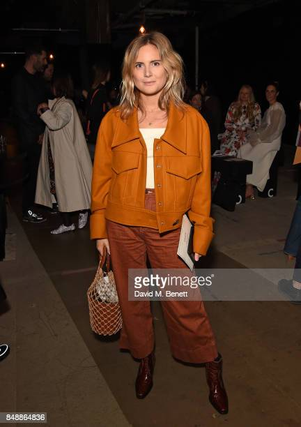Lucy Williams attends the Erdem catwalk show during London Fashion Week at The Old Selfridges Hotel on September 18 2017 in London England