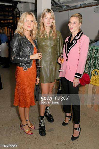 Lucy Williams Camille Charriere and Pandora Sykes attend a private dinner to celebrate the launch of the new ALEXACHUNG x Sunglass Hut eyewear...