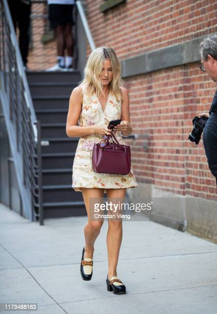 Lucy Williams is seen outside Zimmermann during New York Fashion Week September 2019 on September 09 2019 in New York City