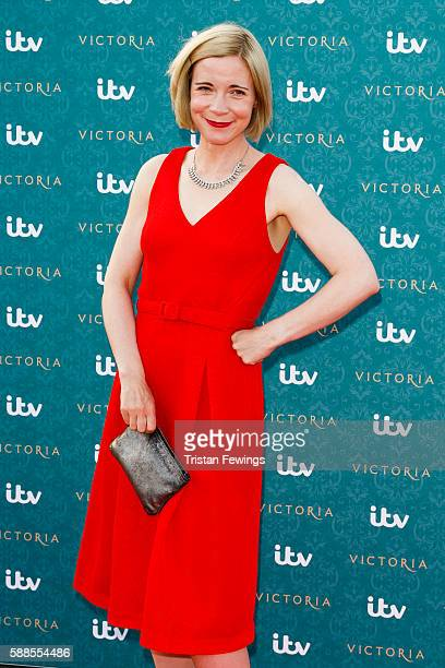 Lucy Worsley arrives for the premiere screening of ITV's Victoria at The Orangery on August 11 2016 in London England