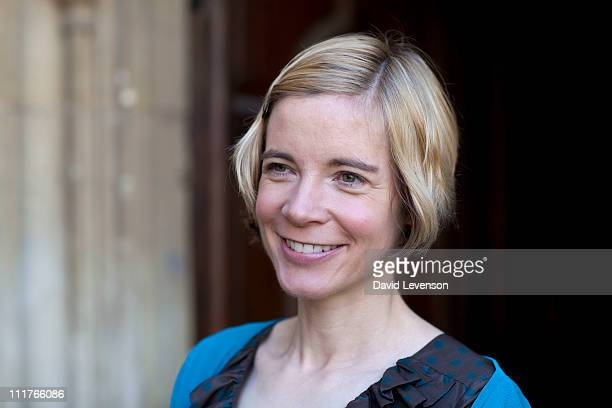 Lucy Worsley author and broadcaster poses for a portrait at the Oxford Literary Festival on April 6 2011 in Oxford England