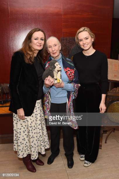Lucy Yeoman Jane Goodall and Daisy Ridley arrive at Porter Magazine's 'Incredible Women Talk' with Dr Jane Goodall to celebrate the BAFTA nominated...