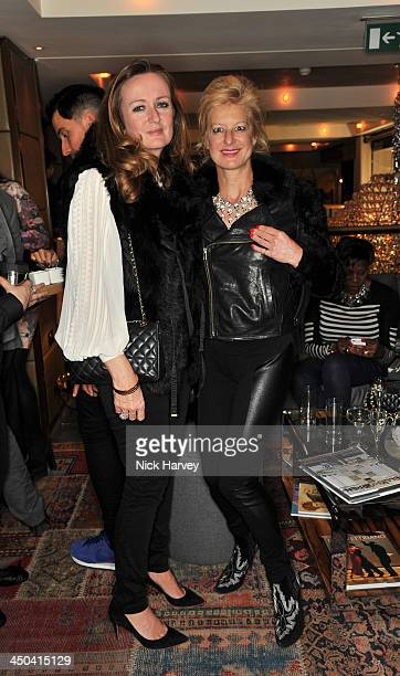 Lucy Yeomans and Alison Jackson attend the launch of Kelly Hoppen's new book 'Design Masterclass' at Belgraves Hotel on November 18 2013 in London...