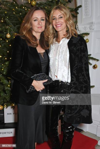 Lucy Yeomans and Kim Hersov attend a party hosted by NETAPORTER and MR PORTER to celebrate the festive season in style at One Horse Guards on...