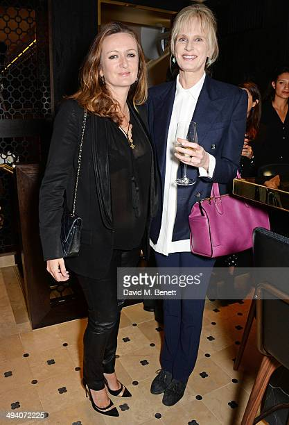 Lucy Yeomans EditorinChief of PORTER magazine and Siri Hustvedt attend a private dinner hosted by PORTER magazine for author Siri Hustvedt at Toto's...