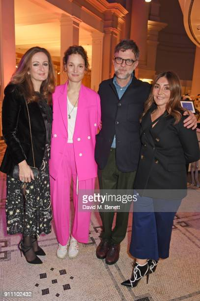 Lucy Yeomans EditorinChief of PORTER magazine Vicky Krieps Paul Thomas Anderson and Vassi Chamberlain Features DIrector at PORTER magazine attend an...