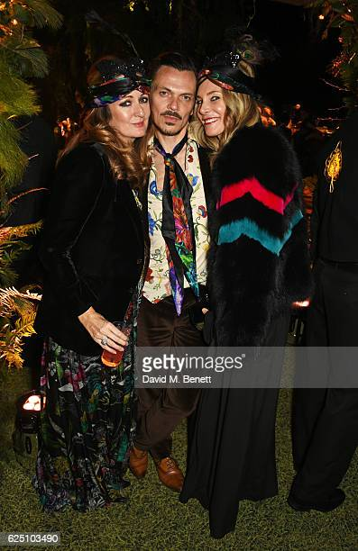 Lucy Yeomans Matthew Williamson and Kim Hersov attend The Animal Ball 2016 presented by Elephant Family at Victoria House on November 22 2016 in...