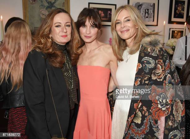 Lucy Yeomans Sheherazade Goldsmith and Kim Hersov attend a private dinner hosted by NETAPORTER and Stella McCartney to celebrate the launch of the...