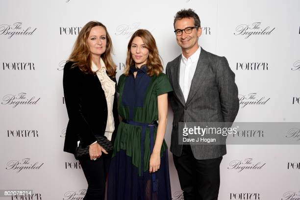 Lucy Yeomans Sofia Coppola and Federico Marchetti attend the screening of 'The Beguiled' at Picturehouse Central on June 27 2017 in London England