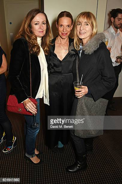 """Lucy Yeomans, Tiphaine de Lussy and Jackie Annesley attend a VIP screening of the award-winning documentary """"Sonita"""" hosted by Francois-Henri..."""