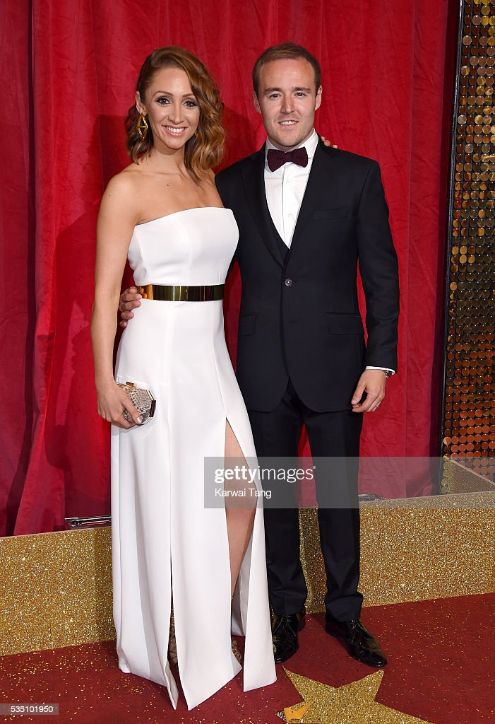Lucy-Jo Hudson and Alan Halsall arrive for the British Soap Awards 2016 at the Hackney Town Hall Assembly Rooms on May 28, 2016 in London, England.