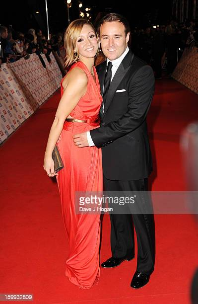 LucyJo Hudson and Alan Halsall attend the National Television Awards 2013 at The O2 Arena on January 23 2013 in London England