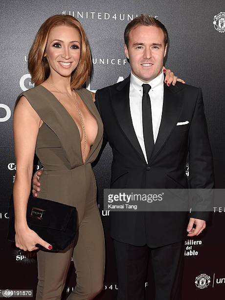 LucyJo Hudson and Alan Halsall attend the United for UNICEF Gala Dinner at Old Trafford on November 29 2015 in Manchester England